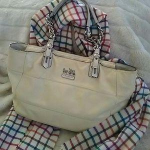 Coach Women's Handbag Creme Medium Pre-owned